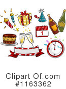 Royalty-Free (RF) New Year Clipart Illustration #1163362