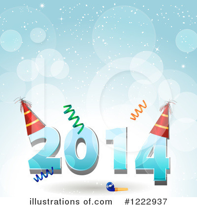 Royalty-Free (RF) New Year Clipart Illustration by elaineitalia - Stock Sample #1222937