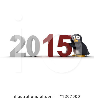 Penguin Clipart #1267000 by KJ Pargeter