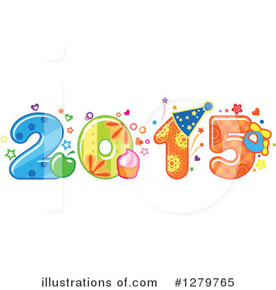 New Year Clipart #1279765 by Vector Tradition SM