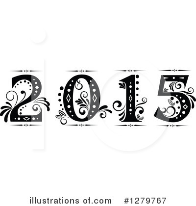 New Year Clipart #1279767 by Vector Tradition SM