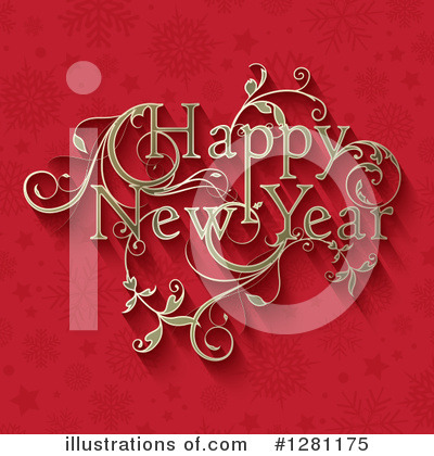 New Year Clipart #1281175 by KJ Pargeter