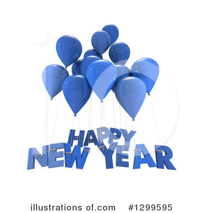 New Year Clipart #1299595 by Frank Boston