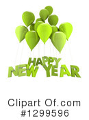 New Year Clipart #1299596 by Frank Boston