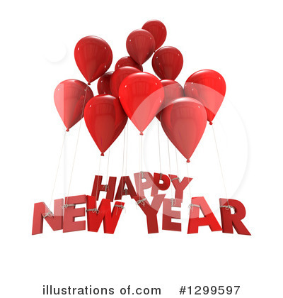 Royalty-Free (RF) New Year Clipart Illustration by Frank Boston - Stock Sample #1299597