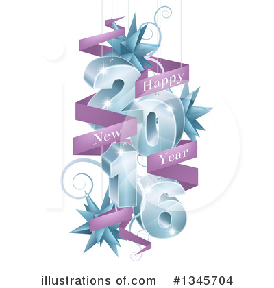 New Year Clipart #1345704 by AtStockIllustration
