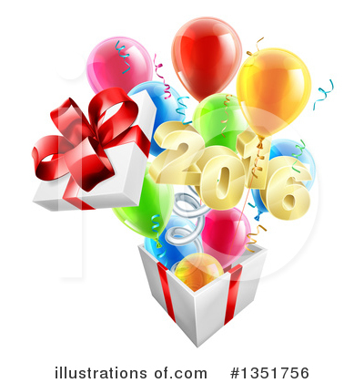 Party Balloons Clipart #1351756 by AtStockIllustration