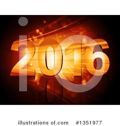 New Year Clipart #1351977 by elaineitalia