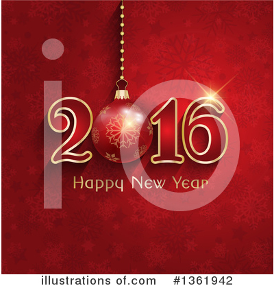 New Year Clipart #1361942 by KJ Pargeter