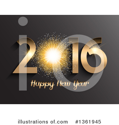 New Year Clipart #1361945 by KJ Pargeter