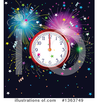 Fireworks Clipart #1363749 by Pushkin