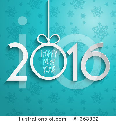 New Year Clipart #1363832 by KJ Pargeter