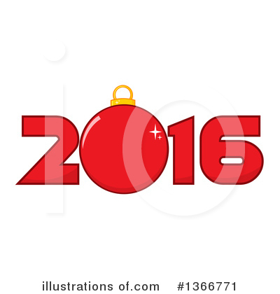 New Year Clipart #1366771 by Hit Toon
