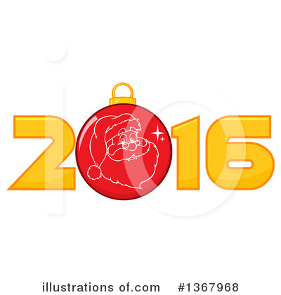 New Year Clipart #1367968 by Hit Toon