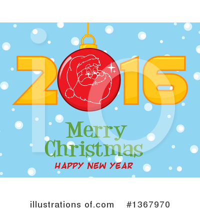 New Year Clipart #1367970 by Hit Toon
