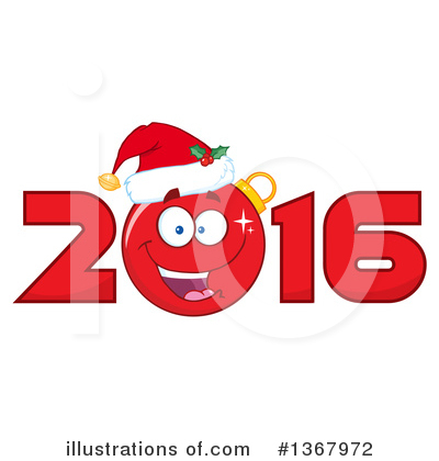 New Year Clipart #1367972 by Hit Toon