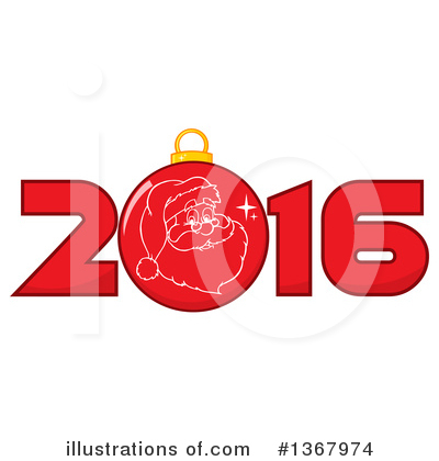 New Year Clipart #1367974 by Hit Toon