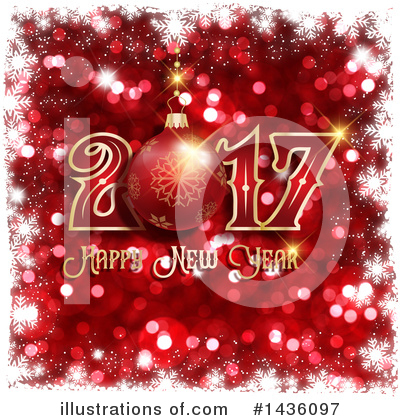 Royalty-Free (RF) New Year Clipart Illustration by KJ Pargeter - Stock Sample #1436097