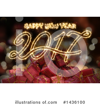 Royalty-Free (RF) New Year Clipart Illustration by KJ Pargeter - Stock Sample #1436100