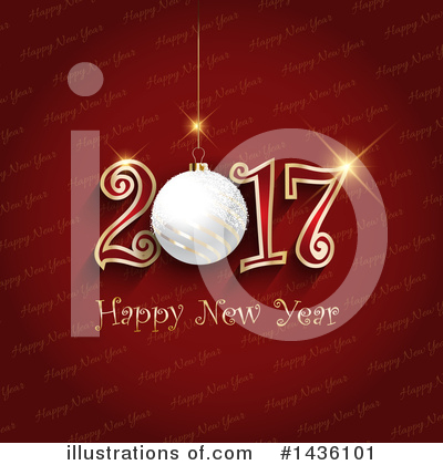 Royalty-Free (RF) New Year Clipart Illustration by KJ Pargeter - Stock Sample #1436101