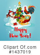New Year Clipart #1437019 by Vector Tradition SM