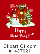New Year Clipart #1437021 by Vector Tradition SM