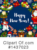 New Year Clipart #1437023 by Vector Tradition SM