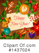 New Year Clipart #1437024 by Vector Tradition SM