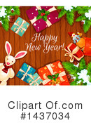 New Year Clipart #1437034 by Vector Tradition SM