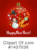New Year Clipart #1437036 by Vector Tradition SM