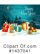 New Year Clipart #1437041 by Vector Tradition SM