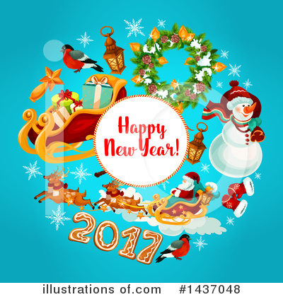 Royalty-Free (RF) New Year Clipart Illustration by Vector Tradition SM - Stock Sample #1437048