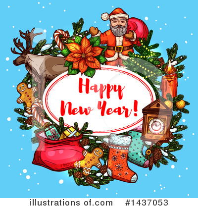 Royalty-Free (RF) New Year Clipart Illustration by Vector Tradition SM - Stock Sample #1437053