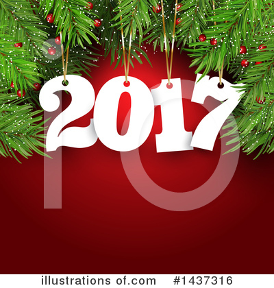 Royalty-Free (RF) New Year Clipart Illustration by KJ Pargeter - Stock Sample #1437316