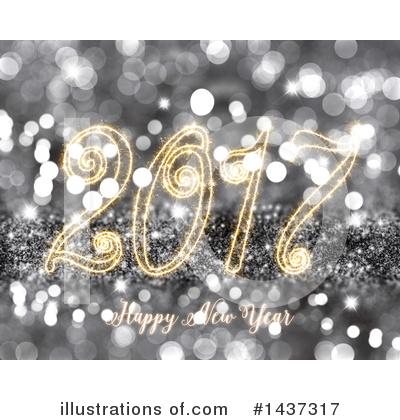 Royalty-Free (RF) New Year Clipart Illustration by KJ Pargeter - Stock Sample #1437317