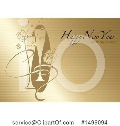 Champagne Clipart #1499094 by dero