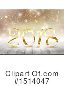 New Year Clipart #1514047 by KJ Pargeter