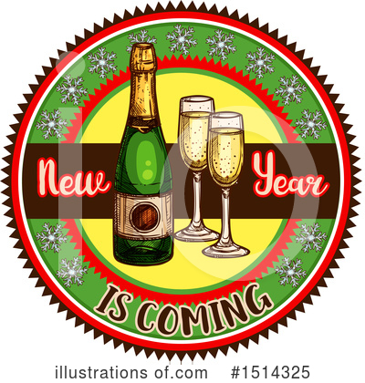 New Year Clipart #1514325 by Vector Tradition SM