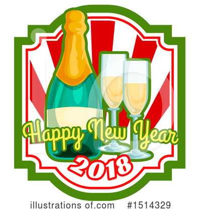 New Year Clipart #1514329 by Vector Tradition SM