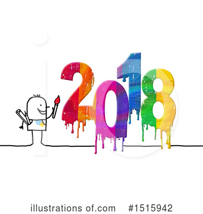 Royalty-Free (RF) New Year Clipart Illustration by NL shop - Stock Sample #1515942