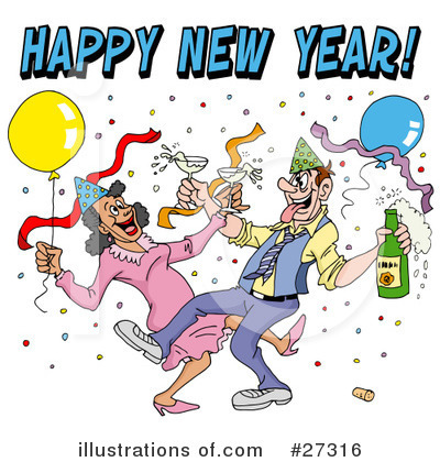 New Year Clipart #27316 by LaffToon