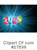 Royalty-Free (RF) New Year Clipart Illustration #27599