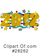 Royalty-Free (RF) New Year Clipart Illustration #28262