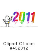 Royalty-Free (RF) New Year Clipart Illustration #432012