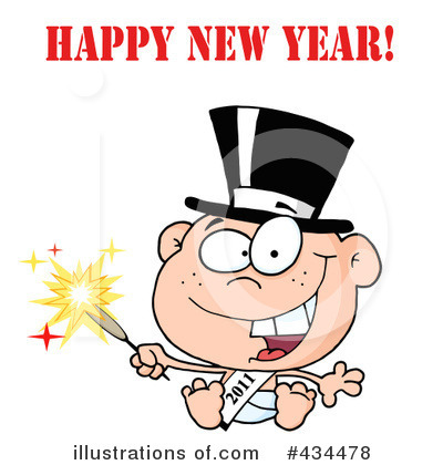 New Year Baby Clipart #434478 by Hit Toon