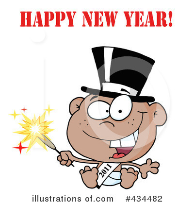 New Year Baby Clipart #434482 by Hit Toon