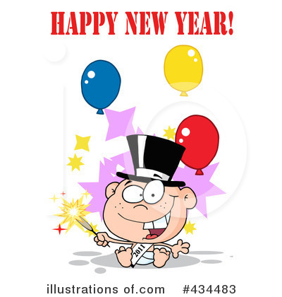 New Year Baby Clipart #434483 by Hit Toon