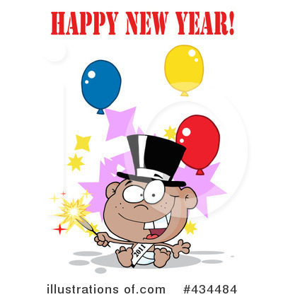 New Year Baby Clipart #434484 by Hit Toon