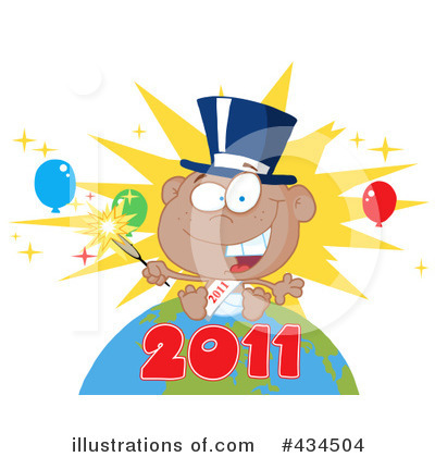 New Year Baby Clipart #434504 by Hit Toon