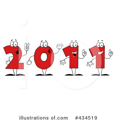 New Year Clipart #434519 by Hit Toon